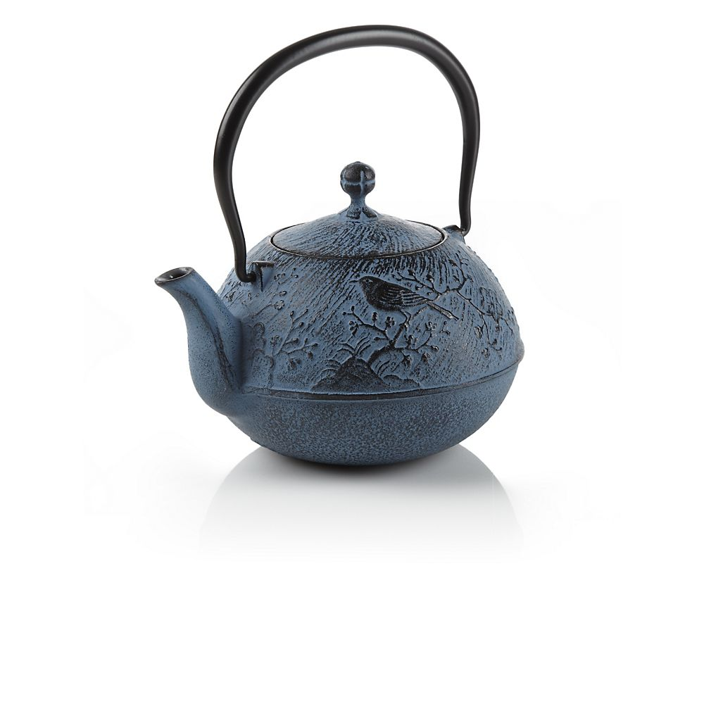 Teavana Blue Maromi Bird Cast Iron Teapot
